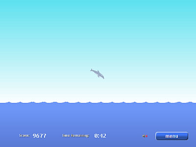 'Dolphin Olympics' spielen (Flash / JavaScript erforderlich)
