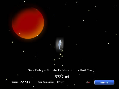 Screenshot 'Dolphin Olympics': Mission to Mars
