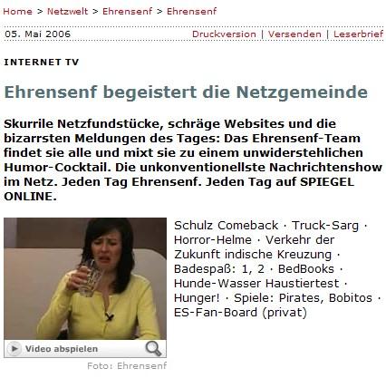 Ehrensenf bei Spiegel Online