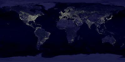 Bild 'Die Erde bei Nacht' in groß anzeigen