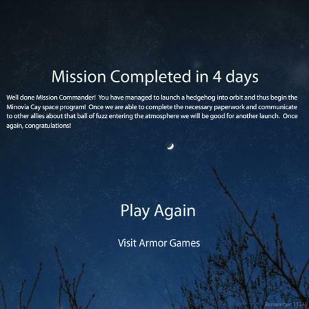Hedgehog Launch - Mein Rekord von 4 Tagen
