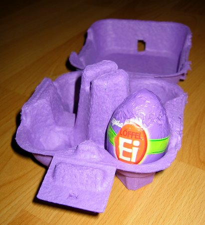 Frohe Ostern 2008 mit dem Löffel-Ei