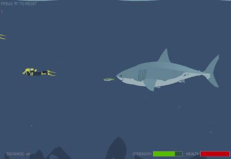 'Mad Shark' spielen (Flash erforderlich)