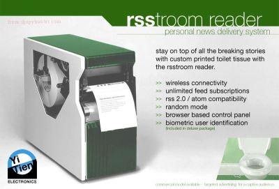 Rsstroom Reader - RSS auf Klopapier